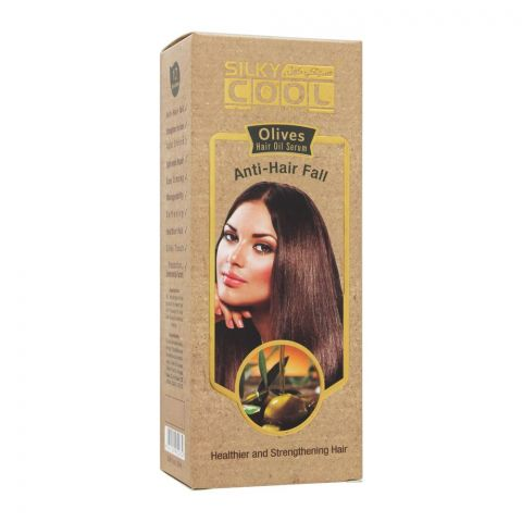 Silky Cool Extra Anti-Hairfall Olives Hair Oil Serum, 100ml