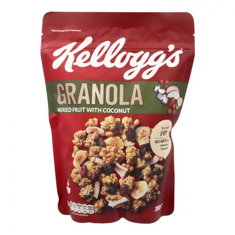 Kellogg's Granola, Mixed Fruit With Coconut, 380g