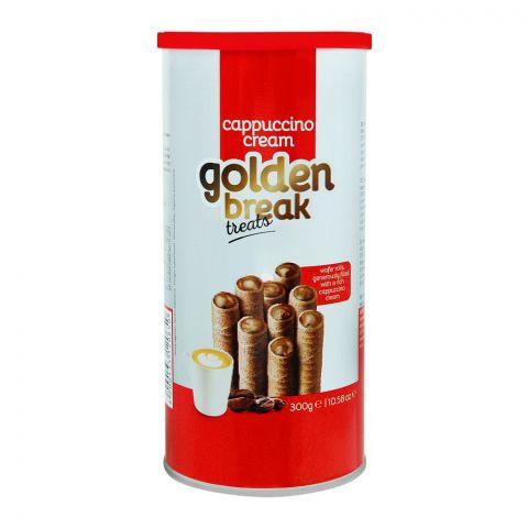 Golden Break Cappuccino Cream Wafer Rolls, 300g