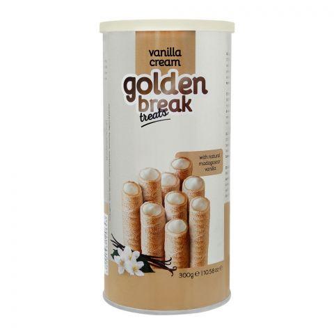 Golden Break Vanilla Cream Wafer Rolls, 300g