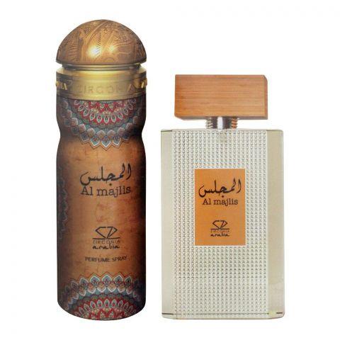 Zirconia Al Majlis Set EDP 100ml + Perfume Body Spray, For Men, 200ml