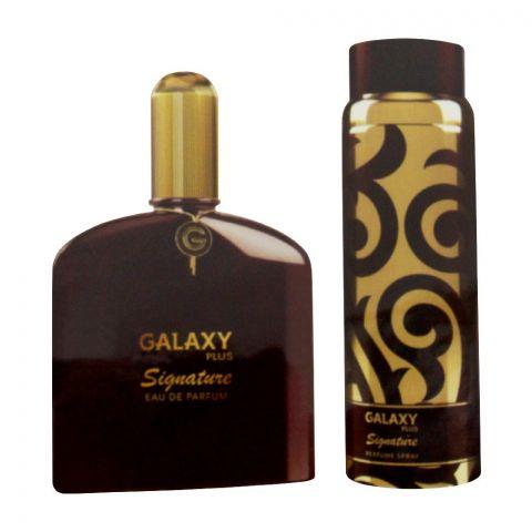 Galaxy Plus Signature Brown Set EDP 100ml + Perfume Body Spray, For Men, 200ml