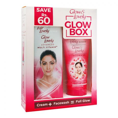 Fair & Lovely Is Now Glow & Lovely Cream + Face Wash Glow Box, Save Rs. 60