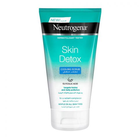 Neutrogena Skin Detox Cooling Scrub, All Skin Types, 150ml