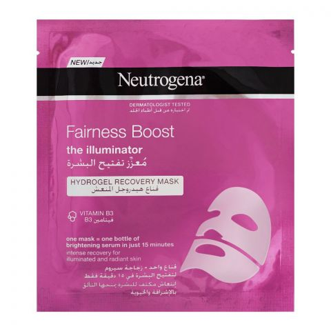 Neutrogena Fairness Boost The Illuminator Hydro Gel Recovery Face Mask, 30ml