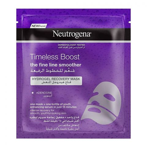 Neutrogena Timeless Boost Fine Line Smoother Hydro Gel Recovery Face Mask, 30ml