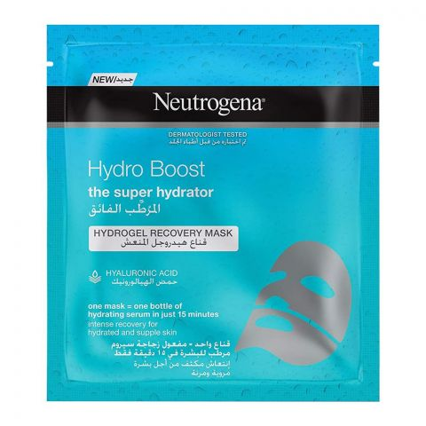 Neutrogena Hydro Boost Super Hydrator Hydro Gel Recovery Face Mask, 30ml