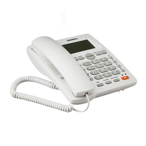 Uniden Basic Series Caller ID Landline Speakerphone, White, AS7412