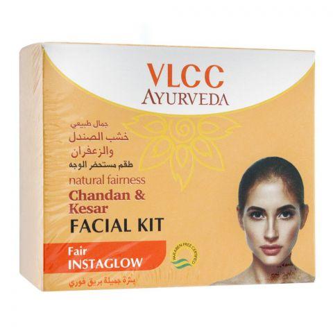 VLCC Ayurveda Fair Instaglow Chandan & Kesar Facial Kit, 50g
