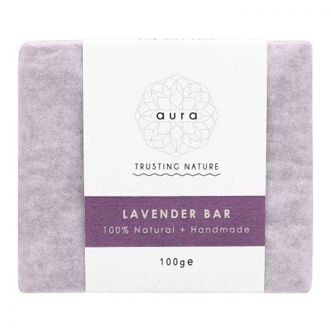 Aura Crafts Trusting Nature Lavender Homemade Soap Bar, 100g