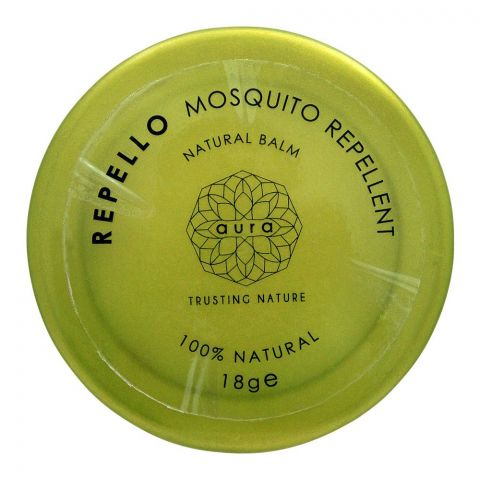 Aura Crafts Repello Mosquito Repellent Natural Balm, 18g