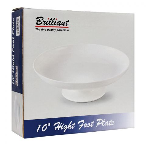 Brilliant High Foot Plate, 10 Inches, BR-0102