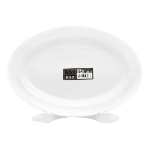 Brilliant Oval Platter, 11 Inches, BR-0166