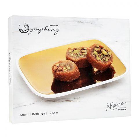 Symphony Adorn Gold Tray, 7.6 Inches, SY-8001