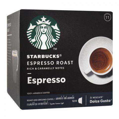 Nescafe Dolce Gusto Starbucks Espresso Roast And Ground Coffee, 12 Single Serve Pods