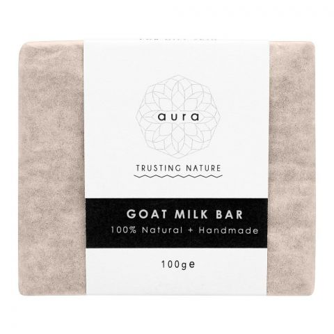 Aura Crafts Trusting Nature Goat Milk Homemade Soap Bar, 100g