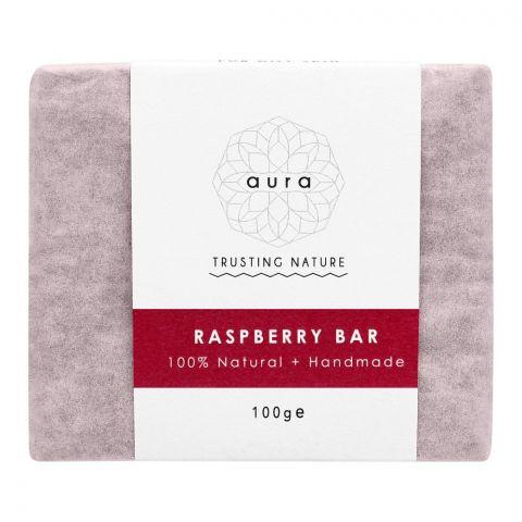 Aura Crafts Trusting Nature Raspberry Homemade Soap Bar, 100g
