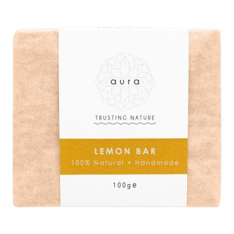 Aura Crafts Trusting Nature Lemon Homemade Soap Bar, 100g