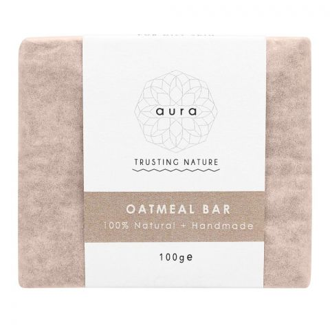 Aura Crafts Trusting Nature Oatmeal Homemade Soap Bar, 100g