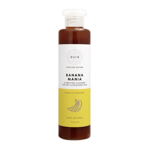 Aura Crafts Trusting Nature Banana Mania Dry & Damaged Hair Hydrating Cleanser, 200ml