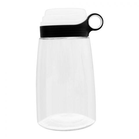 Brilliant Storage Jar With Measuring Lid, Medium, Black, 1400ml, BR0189