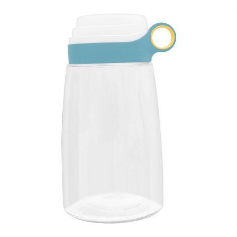 Brilliant Storage Jar With Measuring Lid, Medium, Blue, 1400ml BR0192