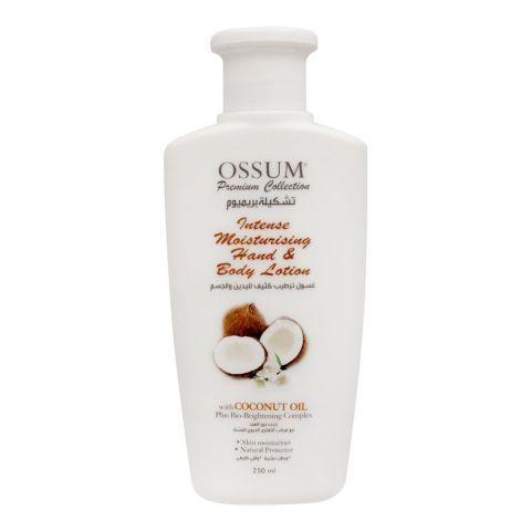 Ossum Coconut Oil Intense Moisturising Hand & Body Lotion, 250ml