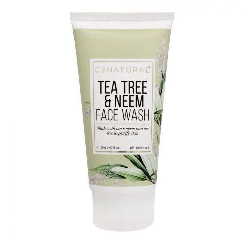 CoNatural Tea Tree & Neem Face Wash, 150ml