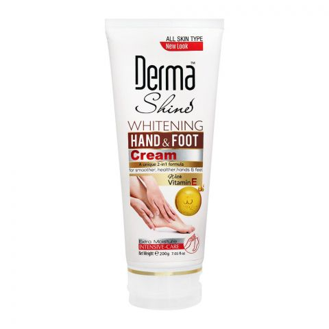 Derma Shine Whitening Vitamin E Hand & Foot Cream, 200g