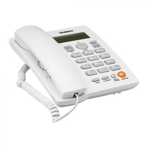 Uniden Basic Series Caller ID One Way Speaker Landline Phone, White, AS7413