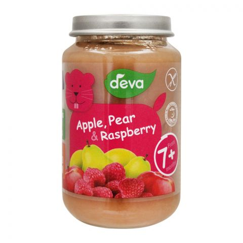 Deva Apple, Pear & Raspberry Baby Food, 7m+, 200g