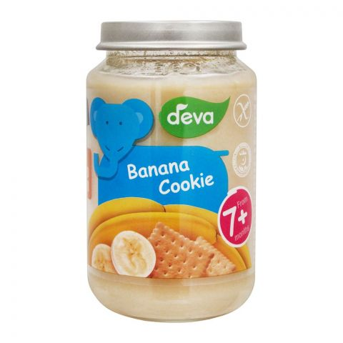 Deva Banana & Cookie Baby Food, 7m+, 200g