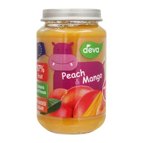 Deva Peach & Mango Baby Food, 7m+, 200g