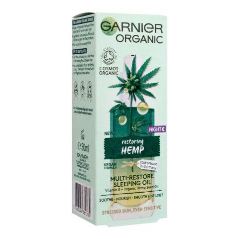 Garnier Organic Night Restoring Hemp Multi-Restore Sleeping Oil, 30ml
