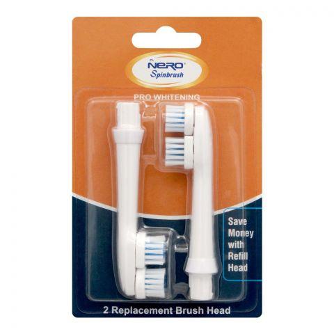 Nero Spinbrush Pro Whitening Replacement Brush Heads, 2-Pack, SB-203
