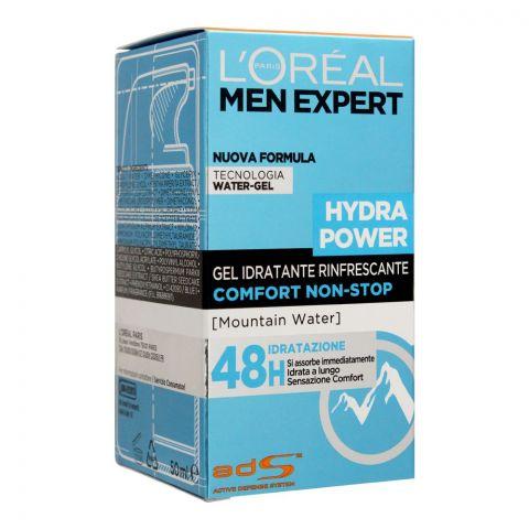 L'Oreal Paris Men Expert Hydra Power Comfort Non-Stop Water-Gel Moisturiser, 50ml