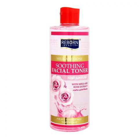 Reborn Beauty Milk And Rose Soothing Facial Toner, All Skin Types, 480ml