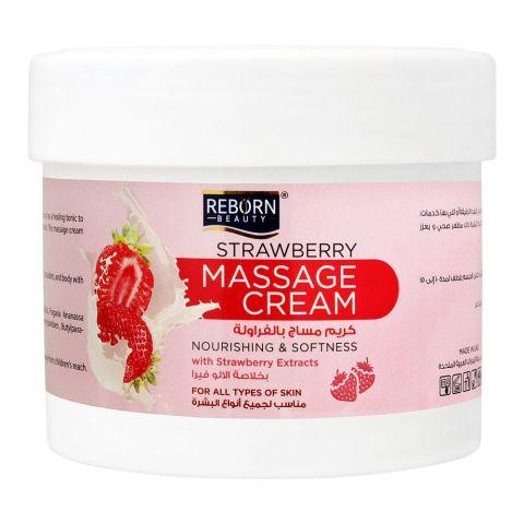 Reborn Beauty Strawberry Massage Cream, All Skin Types, 500ml
