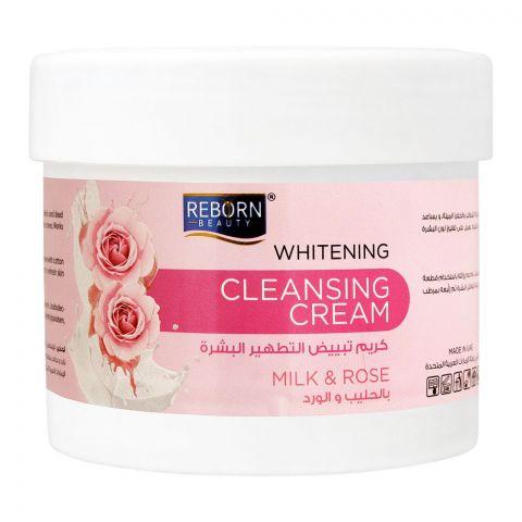 Reborn Beauty Whitening Cleansing Cream, Milk & Rose, 500ml