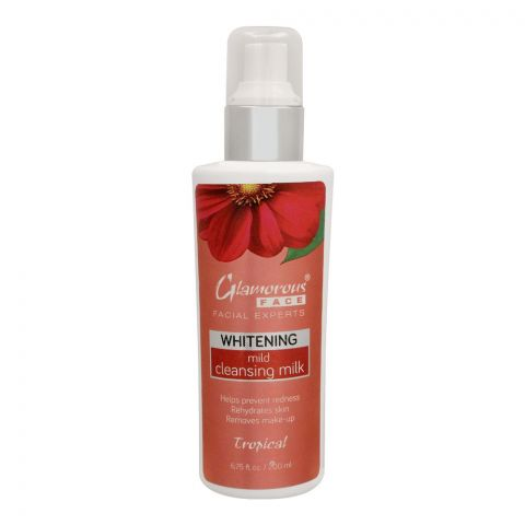 Glamourous Face Whitening Mild Cleansing Milk, Tropical, 200ml