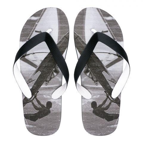 Men's Slippers, I-8, Black