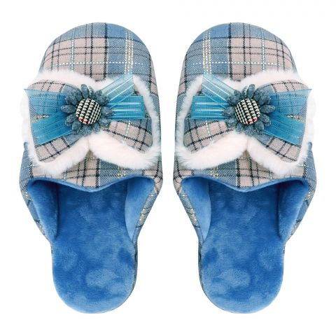 Women's Slippers, I-14, Blue
