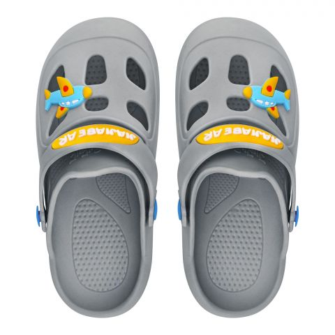 Kid's Slippers, I-16, Grey
