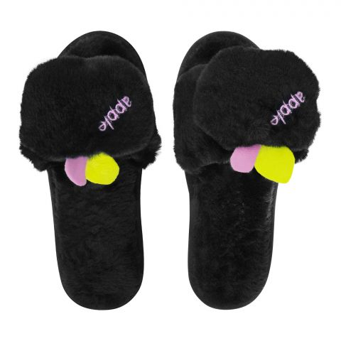 Women's Slippers, I-17, Black