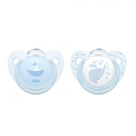 Nuk Baby Rose Blue Silicone Pacifier, 0-6m, 10730051