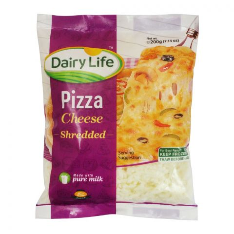 Dairy Life Pizza Shredded Cheese, 200g