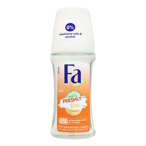 Fa 24H Freshly Free Cucumber & Melon Scent Roll-On Deodorant, For Women, 50ml