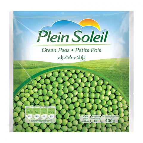 Plein Soleil Green Peas, Frozen, 400g