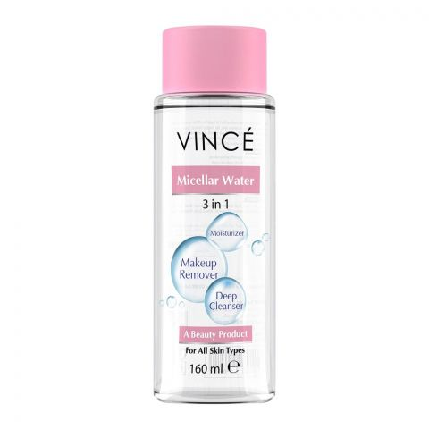 Vince 3-In-1 Micellar Water, All Skin Types, 160ml