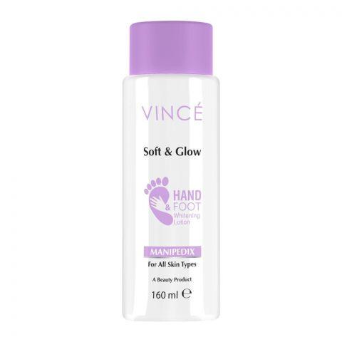Vince Soft & Glow Manipedix Hand & Foot Whitening Lotion, All Skin Types, 160ml